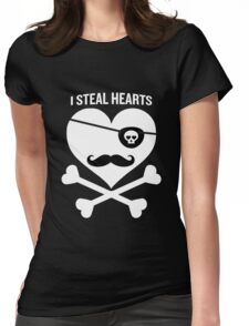 I Steal Hearts Funny Pirate Bone Valentines Gift Boys  Womens Fitted T-Shirt