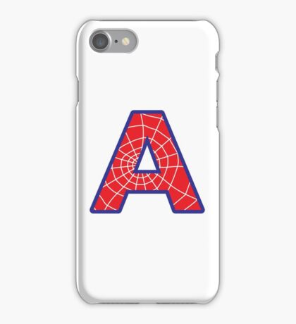 A letter in Spider-Man style iPhone Case/Skin