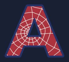 A letter in Spider-Man style Kids Tee