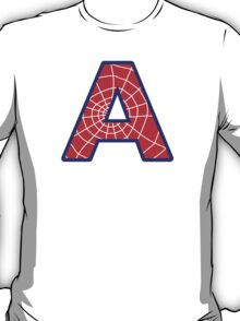 A letter in Spider-Man style T-Shirt