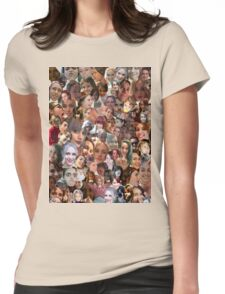 Face Collage  Womens Fitted T-Shirt