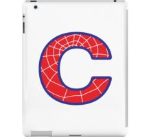 C letter in Spider-Man style iPad Case/Skin