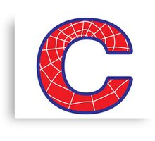 C letter in Spider-Man style Canvas Print