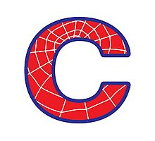 C letter in Spider-Man style Photographic Print