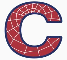 C letter in Spider-Man style by Stock Image Folio