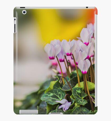 Cyclamen flowers background. iPad Case/Skin