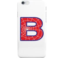 B letter in Spider-Man style iPhone Case/Skin