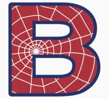 B letter in Spider-Man style by Stock Image Folio