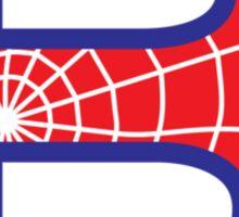B letter in Spider-Man style Sticker