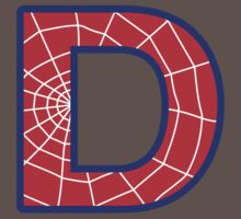 D letter in Spider-Man style One Piece - Short Sleeve