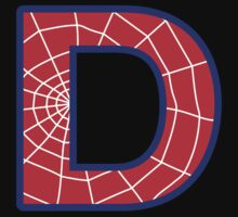 D letter in Spider-Man style Kids Clothes