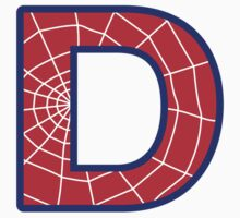 D letter in Spider-Man style Kids Tee