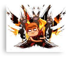 Daryl loves bunnies (Heavy Brush) Canvas Print