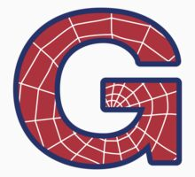 G letter in Spider-Man style by Stock Image Folio