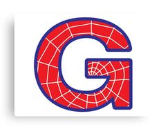 G letter in Spider-Man style Canvas Print