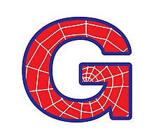 G letter in Spider-Man style Photographic Print