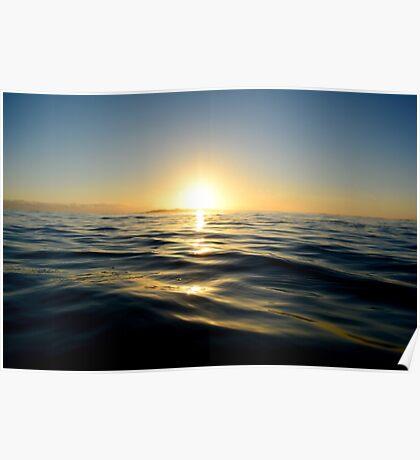 Beautiful ocean sunrise Poster