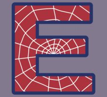 E letter in Spider-Man style Kids Tee