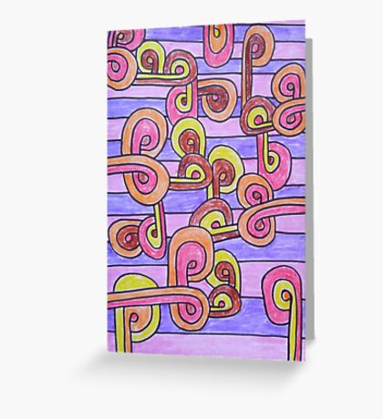 Abstract pastel art Greeting Card