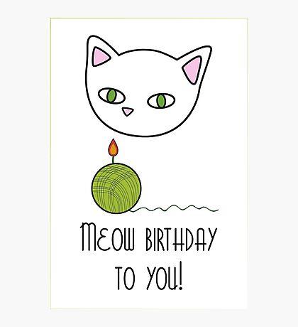 Meow birthday Photographic Print