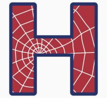H letter in Spider-Man style T-Shirt