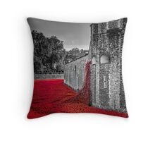 Cascading Poppies, Tower of London Throw Pillow