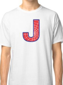 J letter in Spider-Man style Classic T-Shirt
