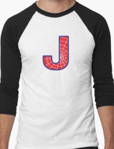 J letter in Spider-Man style Men's Baseball ¾ T-Shirt