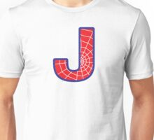 J letter in Spider-Man style Unisex T-Shirt