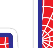 J letter in Spider-Man style Sticker