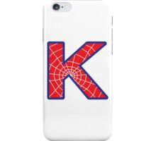 K letter in Spider-Man style iPhone Case/Skin
