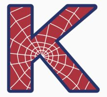 K letter in Spider-Man style Kids Clothes
