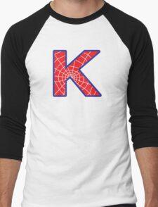 K letter in Spider-Man style Men's Baseball ¾ T-Shirt