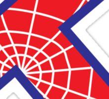 K letter in Spider-Man style Sticker