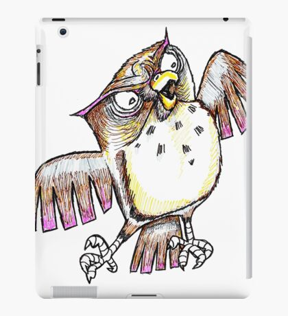 Wise Owl with Gel Pen iPad Case/Skin