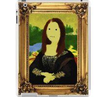 Mona Lisa in Golden Frame iPad Case/Skin