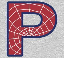 P letter in Spider-Man style One Piece - Short Sleeve