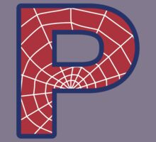 P letter in Spider-Man style Kids Tee