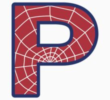 P letter in Spider-Man style Kids Clothes