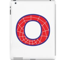 O letter in Spider-Man style iPad Case/Skin