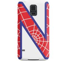 N letter in Spider-Man style Samsung Galaxy Case/Skin
