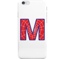 M letter in Spider-Man style iPhone Case/Skin