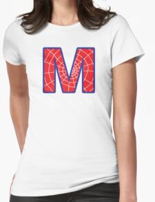 M letter in Spider-Man style Womens Fitted T-Shirt