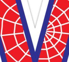 M letter in Spider-Man style Sticker