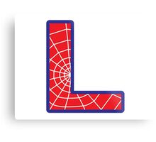 L letter in Spider-Man style Metal Print