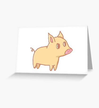 Little Pig Greeting Card