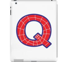 Q letter in Spider-Man style iPad Case/Skin