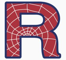 R letter in Spider-Man style by Stock Image Folio