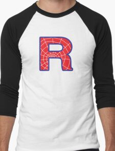 R letter in Spider-Man style Men's Baseball ¾ T-Shirt