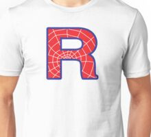 R letter in Spider-Man style Unisex T-Shirt